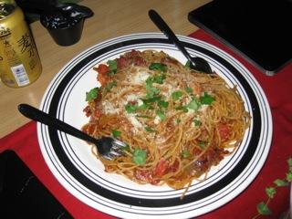 このスパゲティーも絶品!