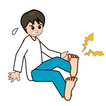 これは「痛風」。