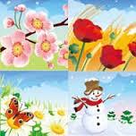 春、夏、秋、冬。